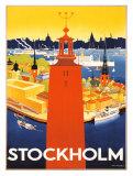 Sweden Travel Vintage Print