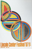 Frank Stella - Lincoln Center Festival 1967, Art Print