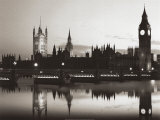 Big Ben and the Houses of Parliament, Art Print, Sir Charles Barry & Augustus Welby Pugin
