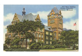 Wayne State University, Detroit, Michigan, Art Print