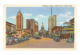 Michigan Avenue, Lansing, Michigan Art Print