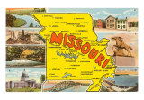 Missouri State Map Art Print