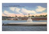 USS Nautilus, First Atomic Submarine Art Print