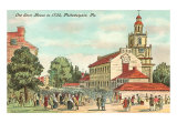 Old State House, Philadelphia, PA, 1735 Art Print