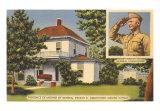 Eisenhower House, Abilene, Kansas Art Print