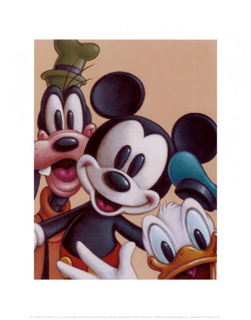 Mickey, Donald, and Goofy: Friends Forever Art Print