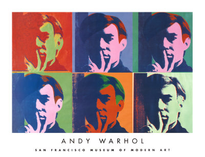 A Set of Six Self-Portraits, 1967 Kunstdruk