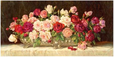 Rosen in Silberner Schale Lámina
