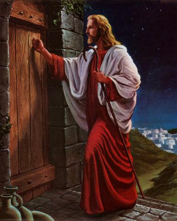 Cristo bussa alla porta Stampa artistica