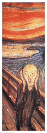 The Scream (detail) Lámina giclée