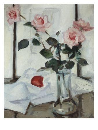 Queen Elizabeth Roses, Samuel John Peploe, c.1918 Lámina giclée