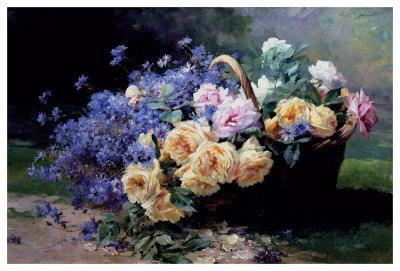 Un Panier de Fleurs Lámina giclée