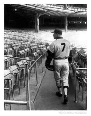 Mickey Mantle at Yankee Stadium, 1963 Photographic Print