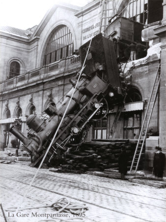 Train Accident at the Gare Montparnasse, Paris, 1895 Art Print