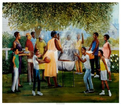African American Family Reunion Art