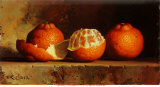 Tangerines With Zest, Art Print