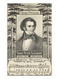 Franz Schubert and Music, Giclee Print