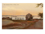 Connecticut River at Essex, Connecticut Art Print