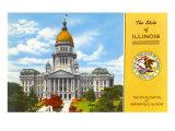 State Capitol, Springfield, Illinois Art Print