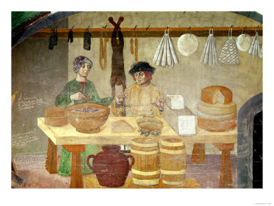 Sausage and Cheese Sellers Giclee Print