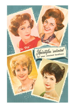 Fifties Hair Styles Art Print