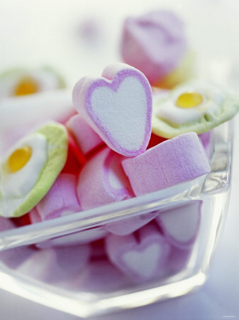 Marshmallow Hearts for Valentine's Day Photographic Print