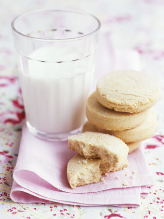 Shortbread with a Glass of Milk Photographic Print