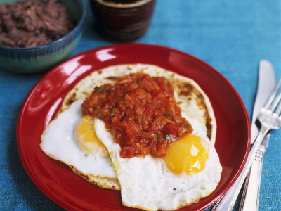 Huevos Rancheros (Fried Egg with Salsa on Tortilla, Mexico) Photographic Print