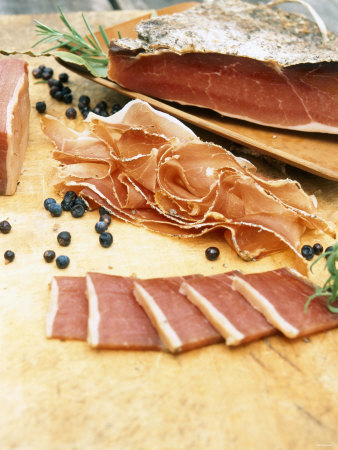 South Tyrolean Speck (Bacon) with Juniper Berries & Herbs Photographic Print