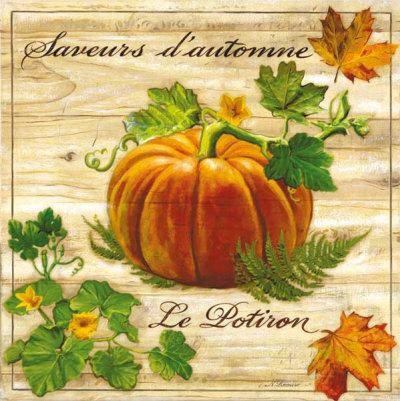 Saveurs de L'Automne, Le Potiron Art Print