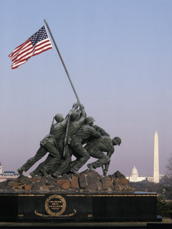 Marine Corps War Memorial, Washington DC Photographic Print