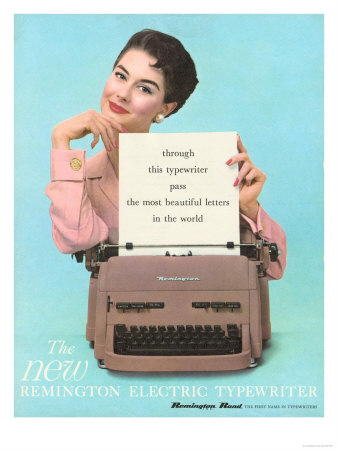 Remington, Typewriters, UK, 1950 Giclee Print