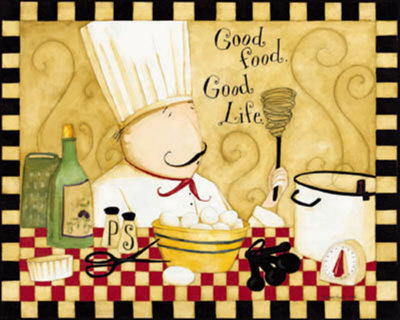 Good Food, Good Life Art Print