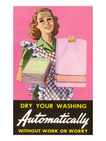 Dry Your Washing Automatically Giclee Print
