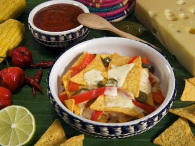 Cheese Nachos, Mexican Food, Mexico, North America Photographic Print