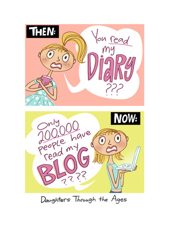 Diary and Blog Giclee Print