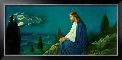Resultado de imagen de jesus en el monte de los olivos