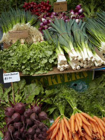 Vegetable Stall at Saturday Market, Salamanca Place, Hobart, Tasmania, Australia Photographic Print
