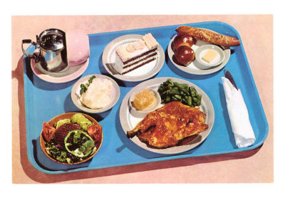 Cafeteria Lunch Tray Art Print