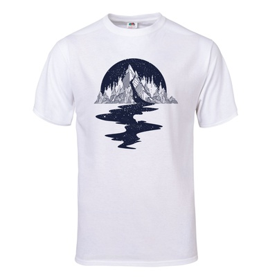 River of Stars Flows from the Mountains T-Shirt T-shirts