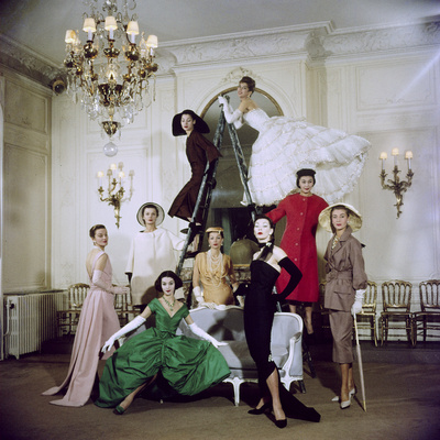 Models Posing in New Christian Dior Collection Photographic Print by Loomis Dean
