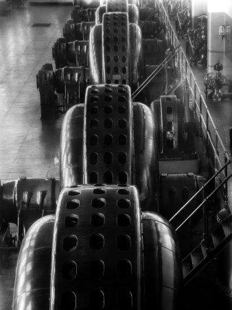 Hydro-Generators at Niagara Falls Power Company 写真プリント : マーガレット・バーク=ホワイト