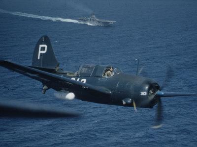 "Jet Carrier Landing: Navy's Jet Planes on Aircraft Carrier ""USS Boxer"" Photographic Print by John Florea"