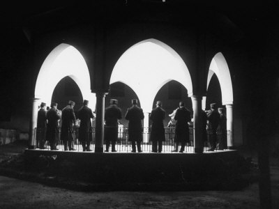 Band Seen Through Triple Archway as it Plays Dinner Music for Bey of Tunis at Palace Photographic Print by Thomas D. Mcavoy