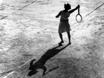 Woman Playing Tennis, Alfred Eisenstaedt's First Photograph Ever Sold Premium Photographic Print by Alfred Eisenstaedt