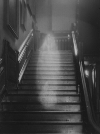 Ghost Descending the Staircase at Raynham Hall, Norfolk, England Photographic Print