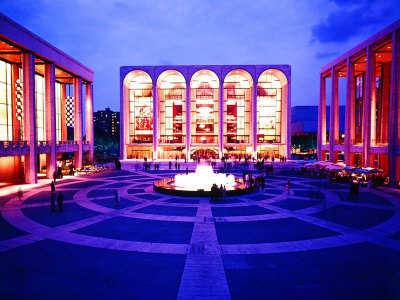 Newly Completed Lincoln Center Photographic Print by Michael Rougier