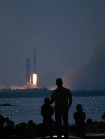Apollo 11 Blast-Off Premium Photographic Print by Ralph Crane