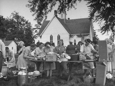 Women Preparing for the Church Picnic Photographic Print by Bob Landry