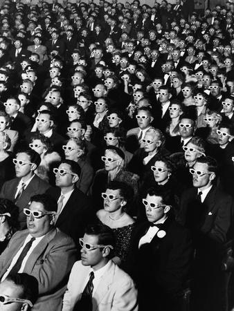 "Opening Night Screening of First Color 3-D Movie ""Bwana Devil,"" Paramount Theater, Hollywood, CA Lámina fotográfica por J. R. Eyerman"